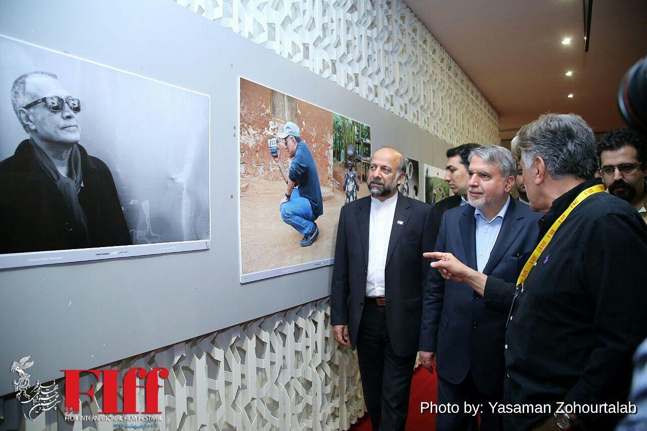 Culture Minister Reza Salehi-Amiri Takes a Tour of Fajr