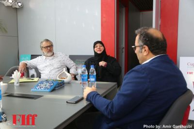 Nader Talebzadeh, Festival Director Reza Mirkarimi Meet in FIFF
