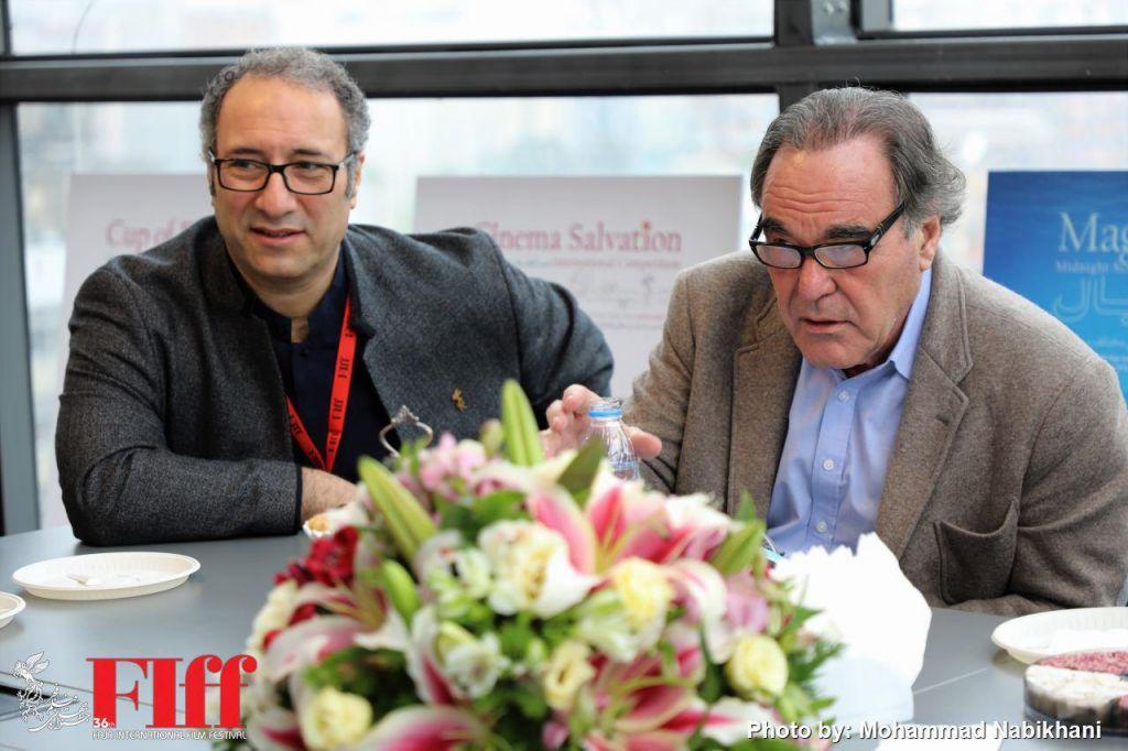 Stone, Mirkarimi Share Experiences in 2018 Fajr Filmfest