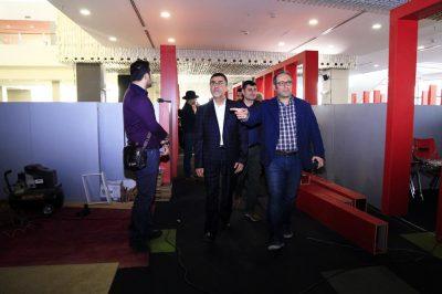 گزارش تصویری بازدید رییس سازمان سینمایی از کاخ جشنواره
