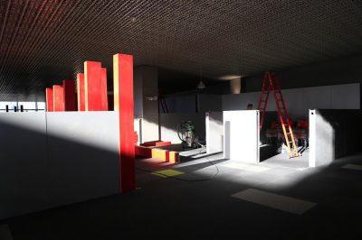 گزارش تصویری آماده سازی غرفههای بازار فیلم در پردیس چارسو