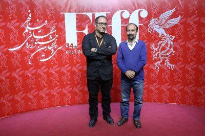 استقبال از اصغر فرهادی در کاخ جشنواره