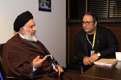 دیدار آیت الله محقق داماد با دبیر و داوران جشنواره جهانی فیلم فجر