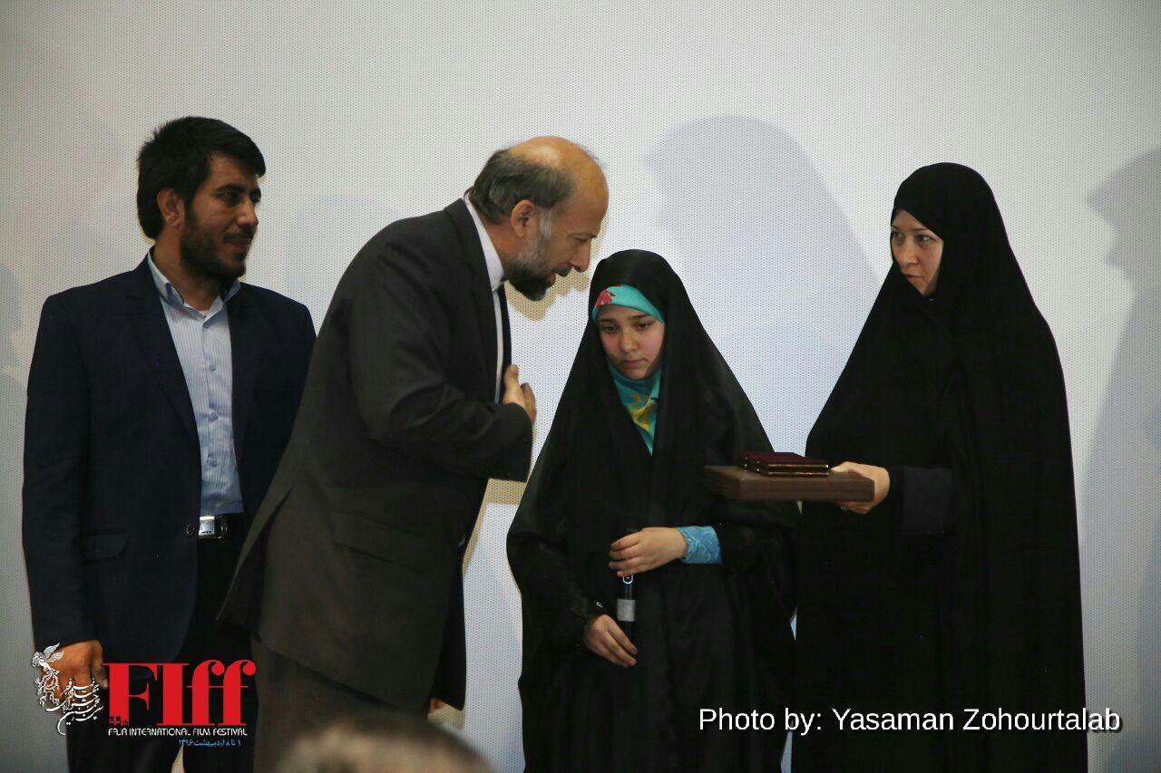 گزارش تصویری حضور خانواده شهید بابایی در جشنواره جهانی