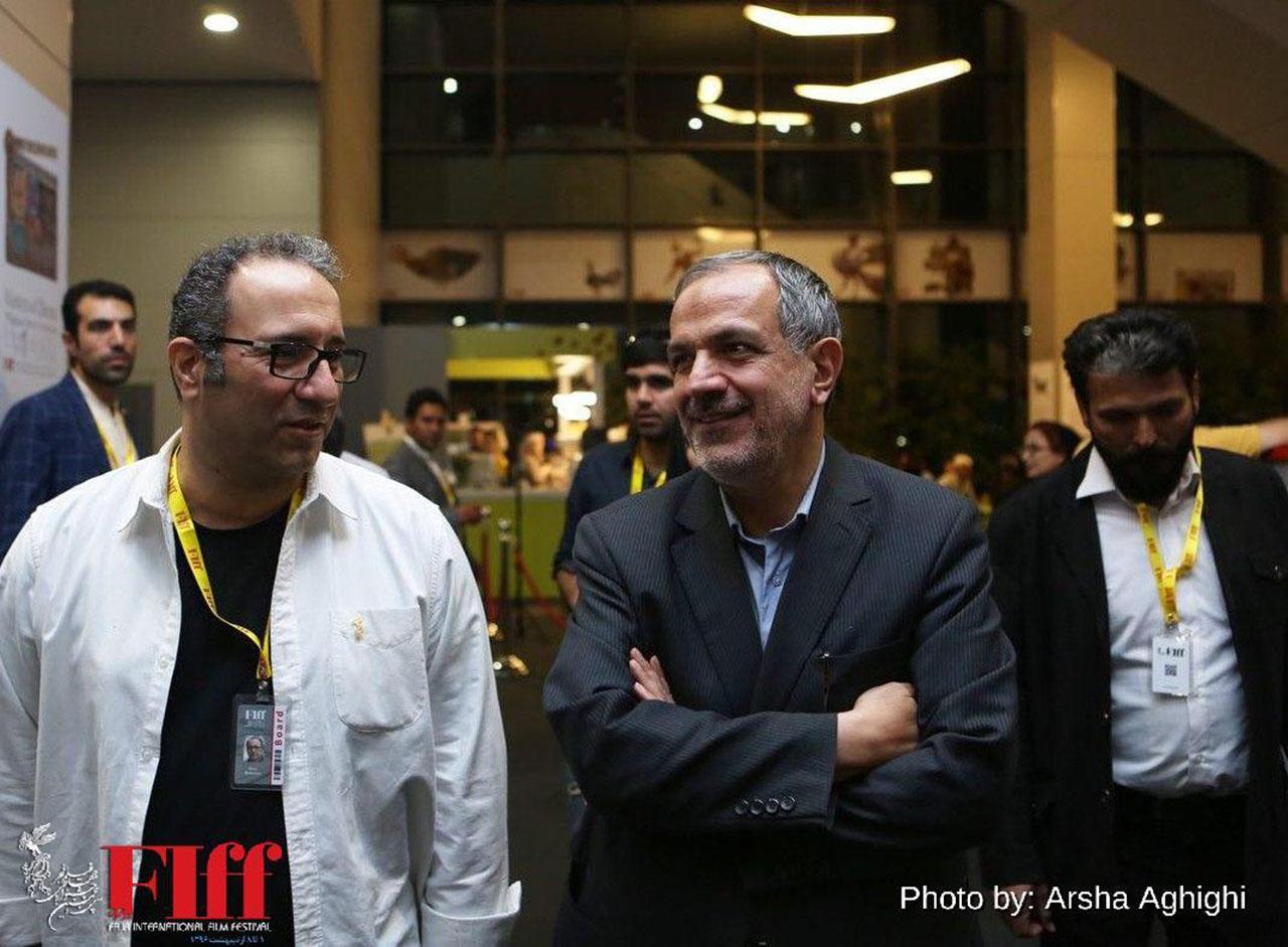 احمد مسجدجامعی در محل برگزاری جشنواره جهانی حضور یافت