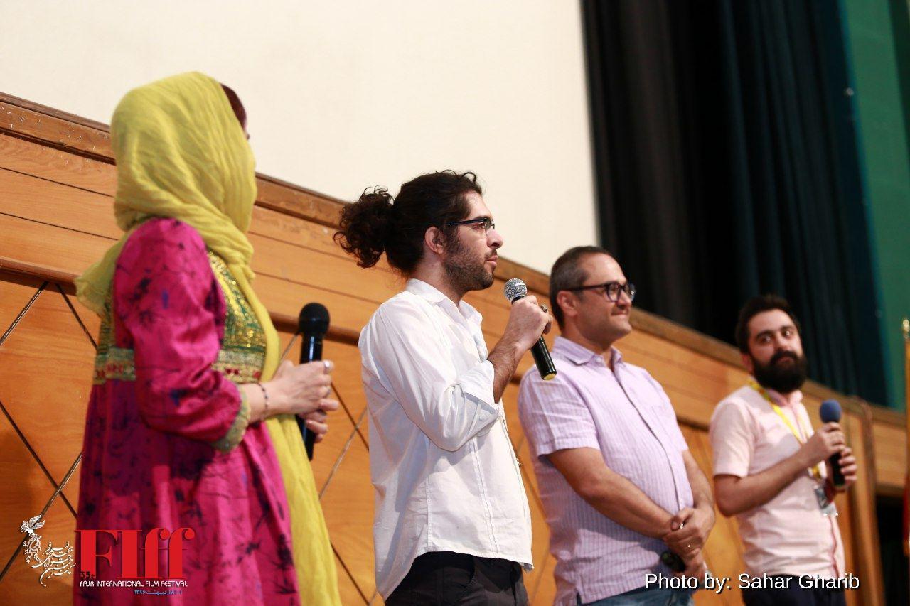 حضور رامبد جوان برای اکران «نگار» در سینما فلسطین