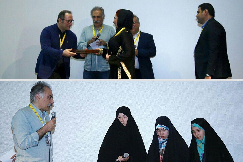 تقدیر از خانواده شهید مدافع حرم/ وقتی تمام حاضران ایستاده اشک ریختند و تشویق کردند