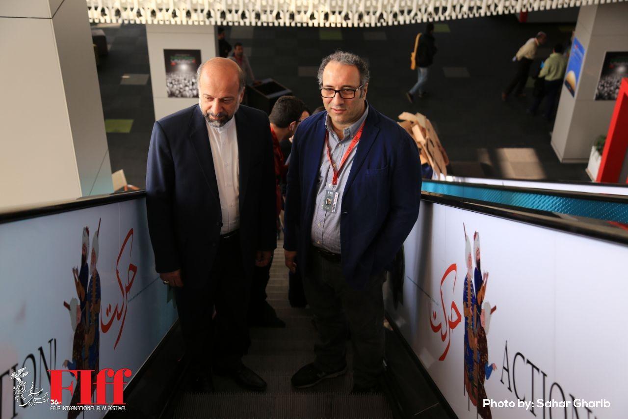 گزارش تصویری بازدید رئیس سازمان سینمایی از کاخ جشنواره جهانی فیلم فجر