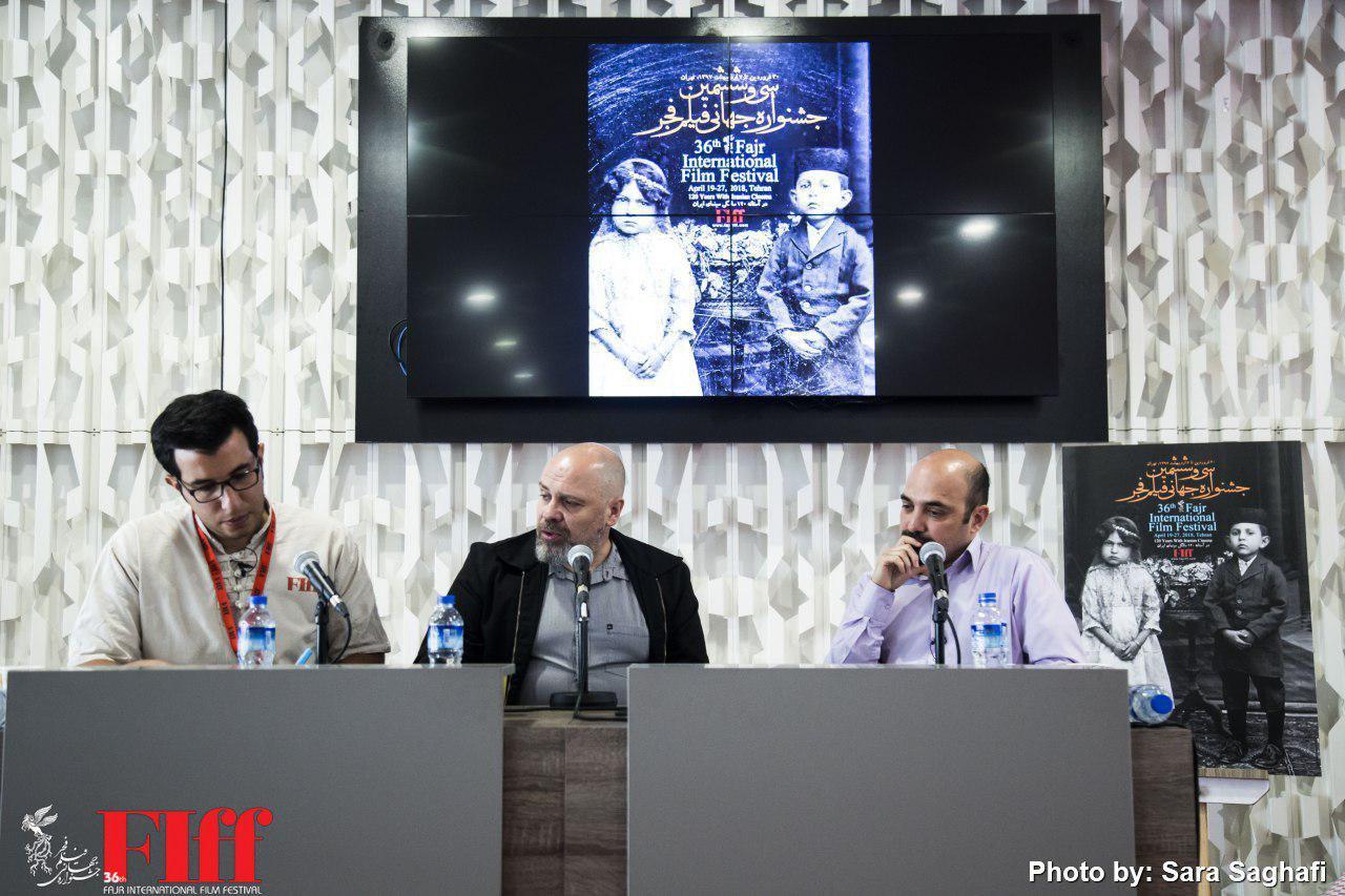 گزارش تصویری نشست مطبوعاتی الیویه مگاتون در کاخ جشنواره جهانی فجر