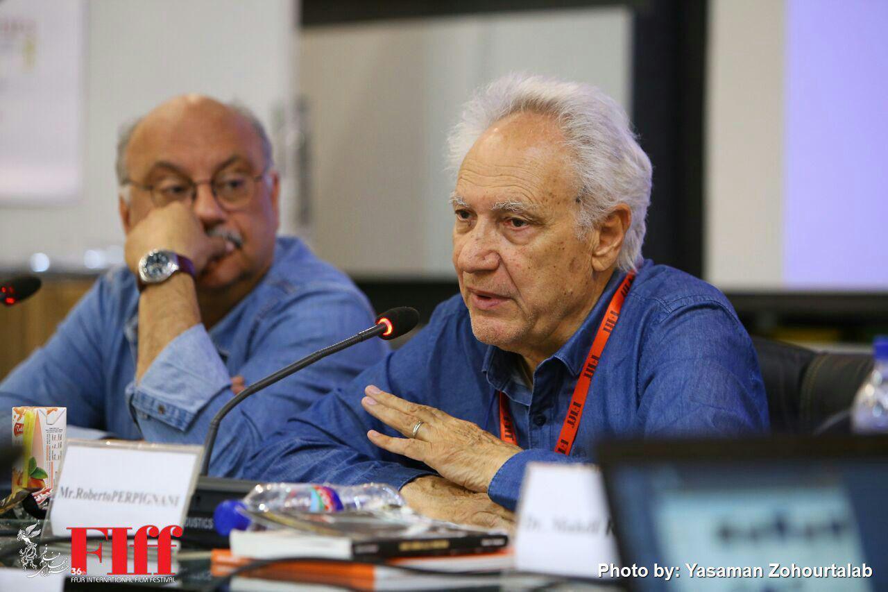 گزارش تصویری کارگاه تدوین روبرتو پرپینیانی در دانشگاه صدا و سیما