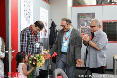 گزارش تصویری تقدیر ستاد خبری جشنواره جهانی فجر از رضا میرکریمی