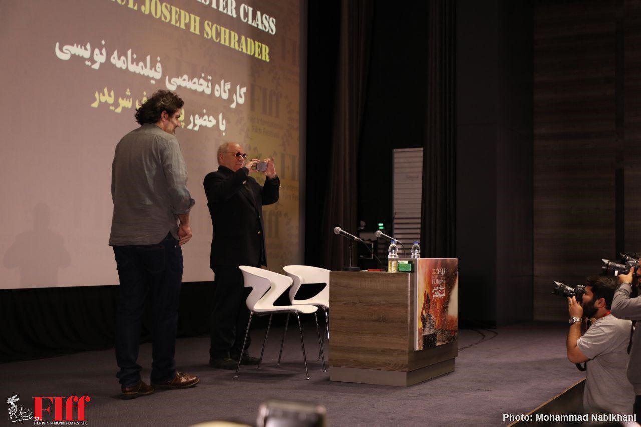 گزارش تصویری کارگاه تخصصی فیلمنامهنویسی با حضور پل شریدر در جشنواره جهانی فجر