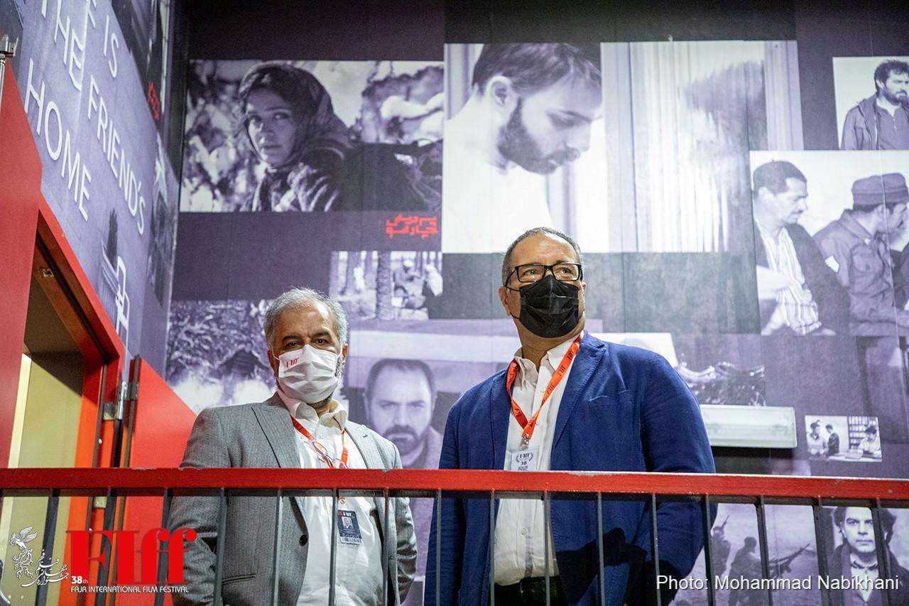 گزارش تصویری بازدید رضا میرکریمی از کاخ سیوهشتمین جشنواره جهانی فجر