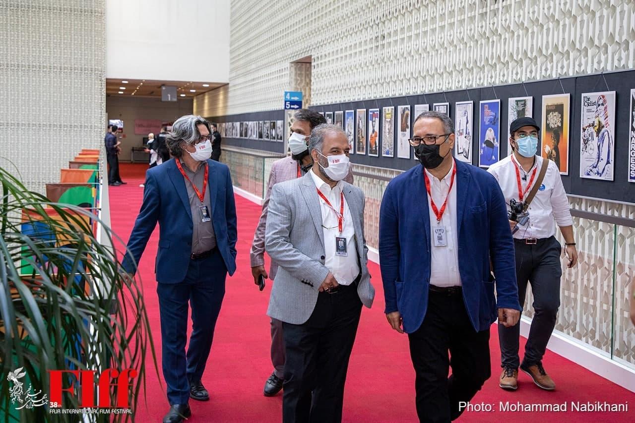 بازدید سیدرضا میرکریمی از کاخ سیوهشتمین جشنواره جهانی فجر